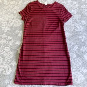 Old Navy Burgundy Striped Bodycon Midi Dress